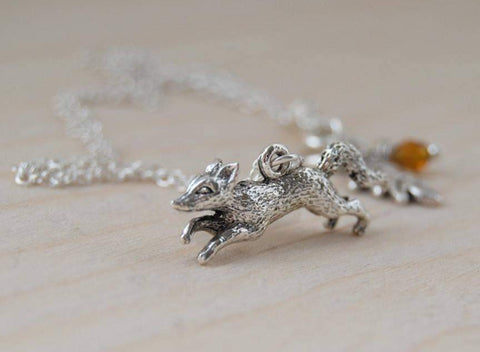 Teeny Tiny Fox Necklace