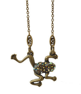 Long-Legged Frog Pendant Necklace