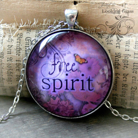 Free Spirit Looking Glass Pendant