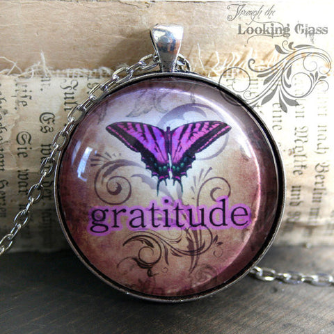 Gratitude Looking Glass Pendant