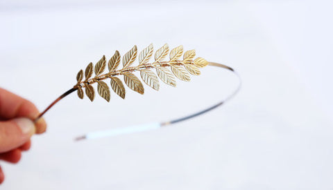 Golden Goddess Leaf Headband