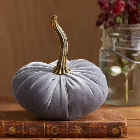 Gray Velvet Pumpkin