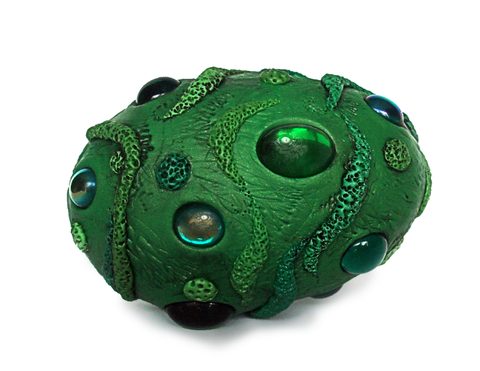 Green Dragon Egg with Green Gems