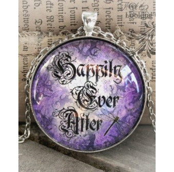 Happily Ever After Looking Glass Pendant