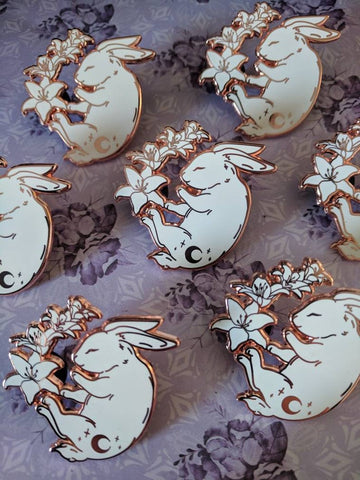 Starlight Rabbit Enamel Pin