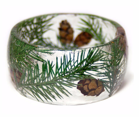 Pine Tree Forest Resin Bracelet