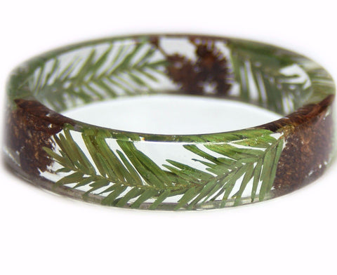 Alder and Spruce Tree Resin Bracelet