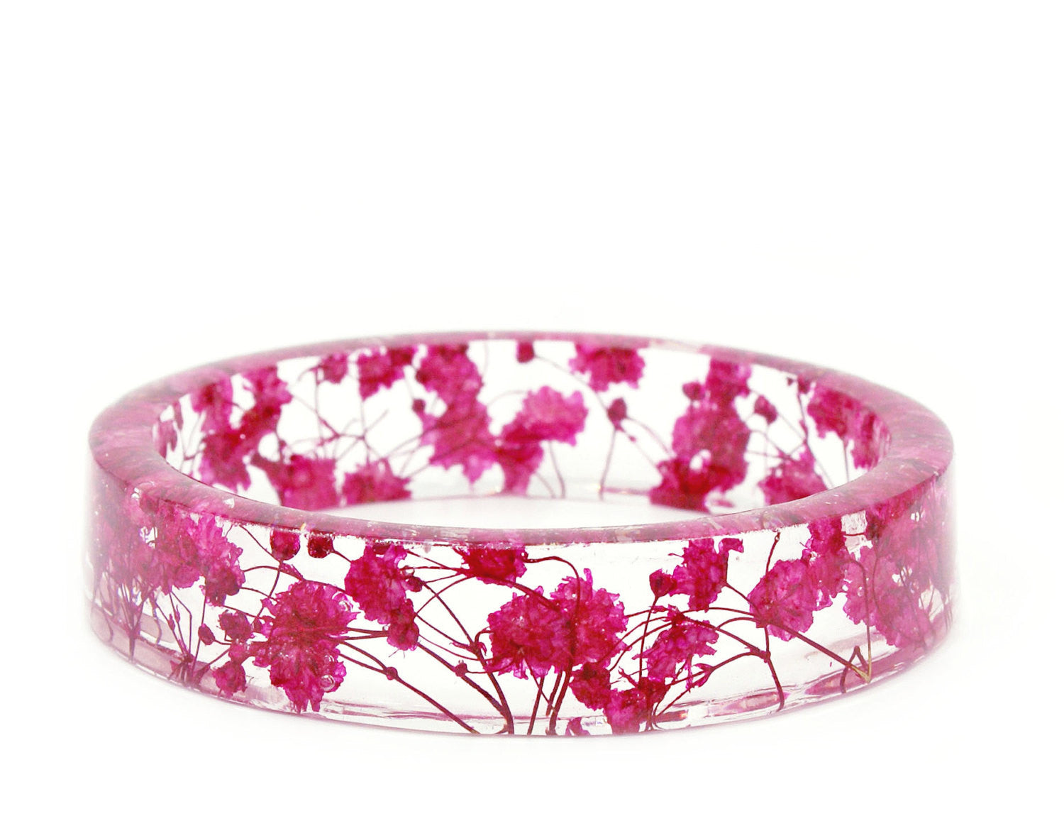 Bright pink flower resin bracelet mightylinksfo