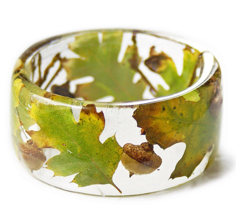 Autumn Acorn Resin Bracelet