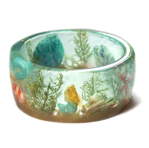 Blue Green Ocean Resin Bracelet