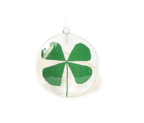 Shamrock Resin Pendant