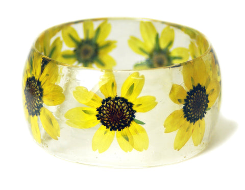 Happy Blooming Flowers Resin Bracelet