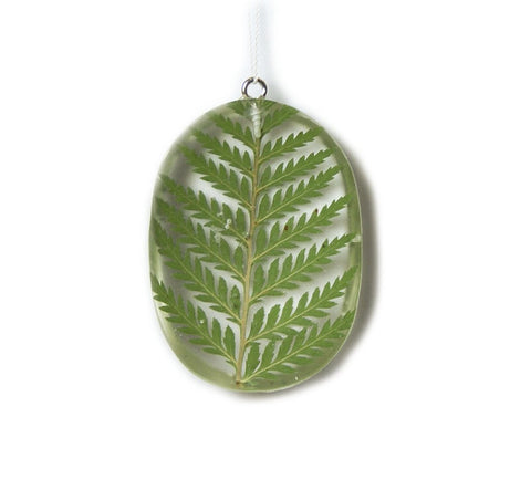 Fern Resin Pendant