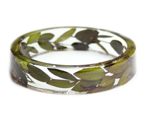 Green Leaves Resin Bracelet