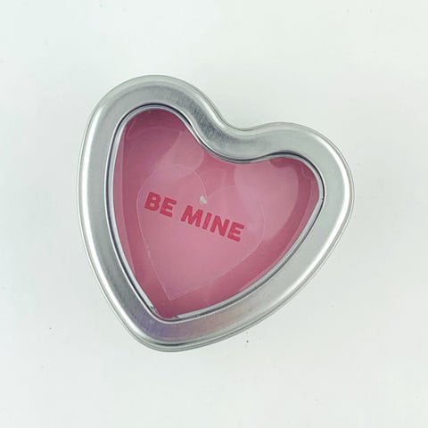 Be Mine heart candle tin