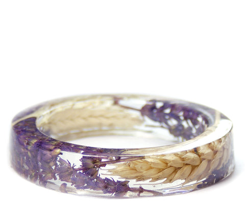 Lavender Wheat Resin Bracelet