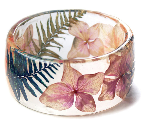 Tropical Bloom Resin Bracelet