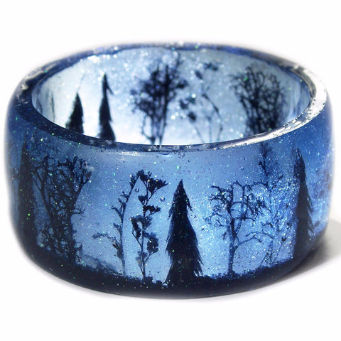 Stars Above the Forest Resin Bracelet