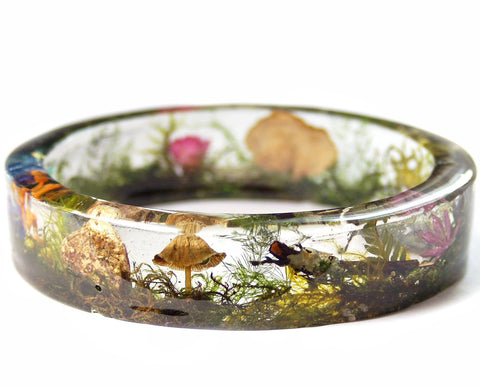 Magical Terrarium Resin Bracelet