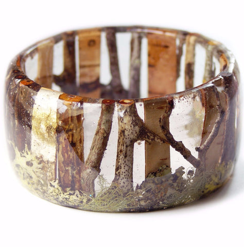 Lost in the Forest Forest Resin Bracelet