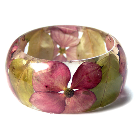 Dogwood Flower Resin Bracelet