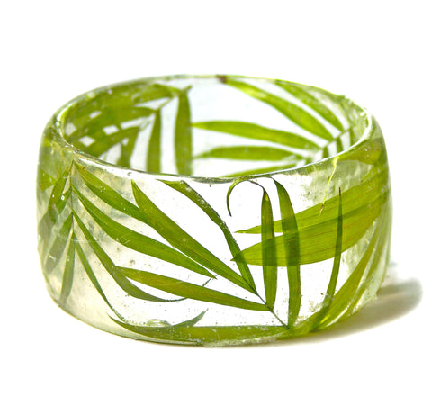 Palm Leaf Resin Bracelet