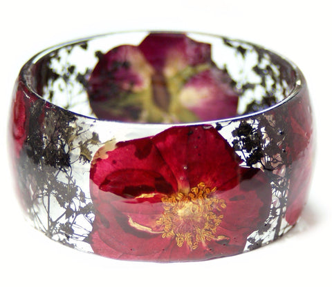 Midnight Rose Resin Bracelet