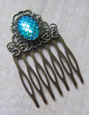 Jewel of the Ocean Mermaid Hair Comb