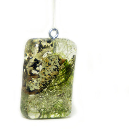 Real Moss Resin Pendant