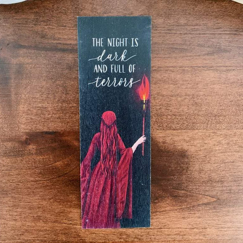 The Night is Dark Game of Thrones Bookmark