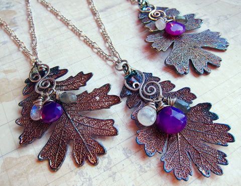 Sylvan Leaves by Sihaya Designs -- Real Oak Leaf