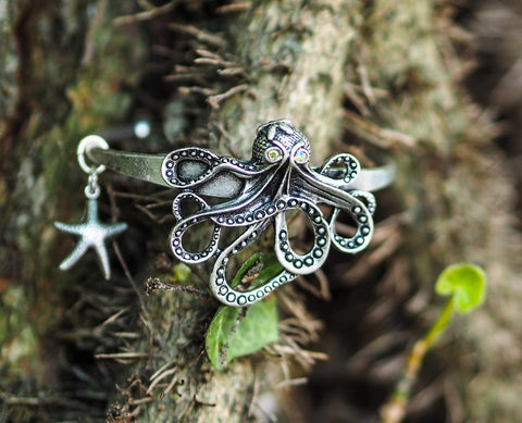 """Octopus's Garden in the Shade"" Octopus Cuff Bracelet"