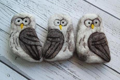 Felted Owl Soap Bar (One)