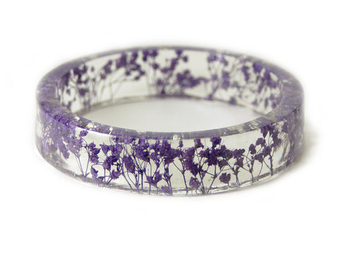 Purple Flower Resin Bracelet
