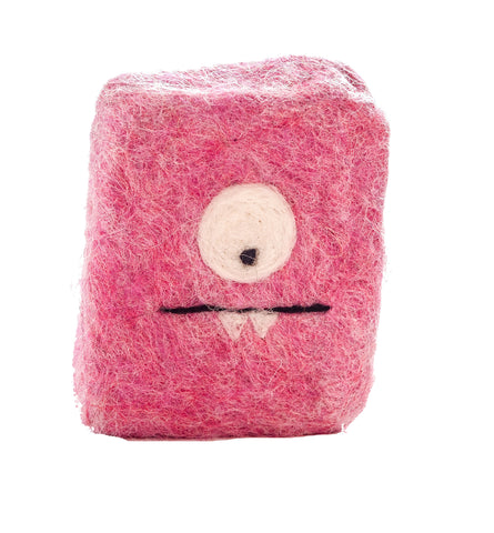 Felted Soap Monster - Pink