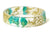 Golden Turquoise Flower Resin Bracelet