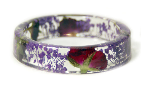 Enchanted Rose Resin Bracelet