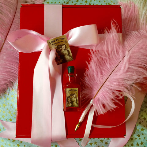Pink Plume & Red Perfumed Ink -- LOVE POTION