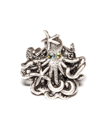 """Under the Sea"" Octopus and Starfish Ring"