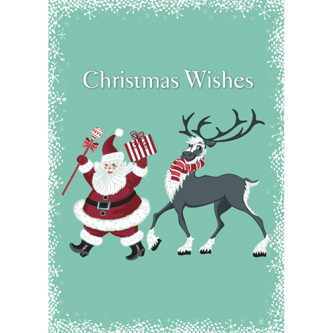 Dancing Santa - Flying Wish Paper Card