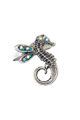 Winged Seahorse Ring