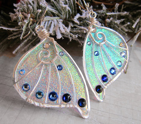 Sihaya Designs Faery Wing Earrings - Winter Wings