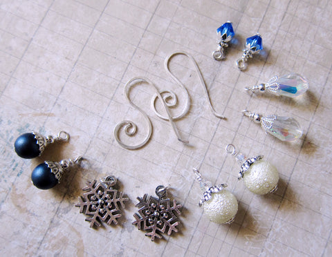 Midnight Snowball Fight Mix and Match Earring Set