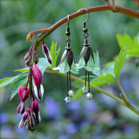 Spring Goddess Flower Earrings