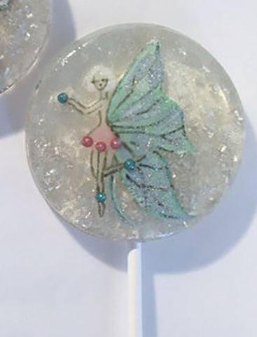Glittered Marzipan Fairy Lollipop (One)