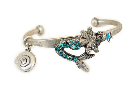 """Under the Sea"" Crowned Mermaid Fairy Cuff"