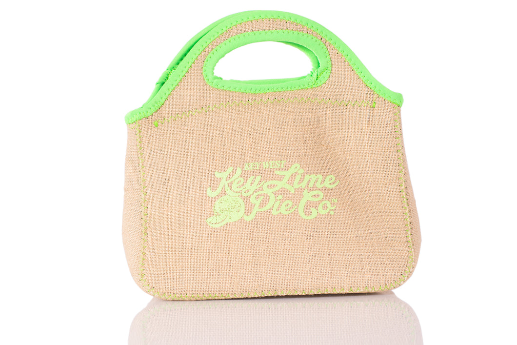 Key West Key Lime Pie Burlap Lunch Bag