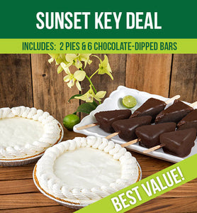 Sunset Key Deal – 2 Key Lime Pies & 6 Key Lime Bars