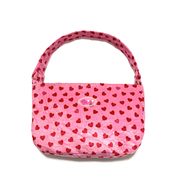 Spice girl shoulder bag - pink heart - JCC