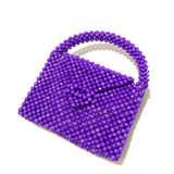 Party ready beaded bag - purple - JCC